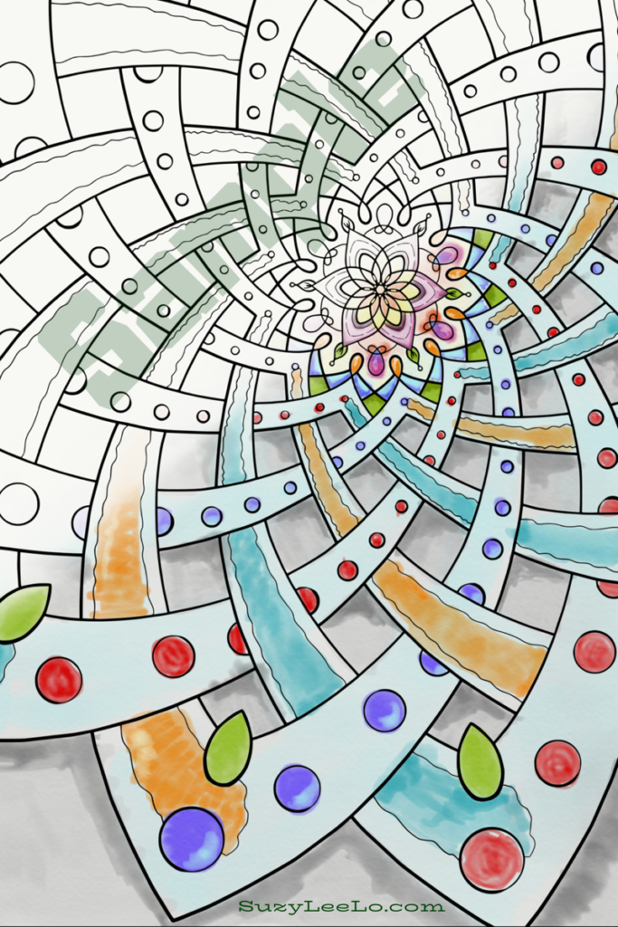 Mandala Coloring Page for Adults