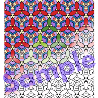 Patterns Coloring Page for Adults