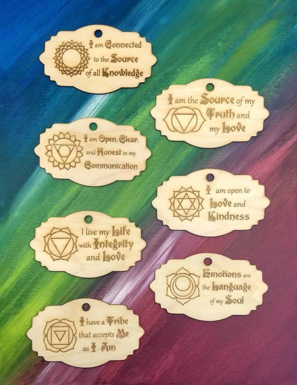 Chakra Affirmations Plaques