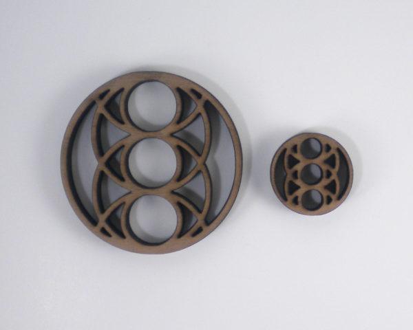 Sacred Geometry Jewelry » Pisces Eye Trinity Pendants