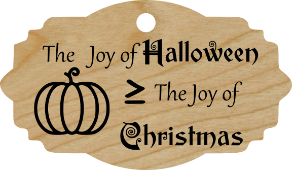 The Joy of Halloween is ≥ The Joy of Christmas