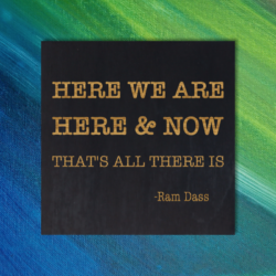 HERE WE ARE HERE AND NOW THAT'S ALL THERE IS - Ram Dass Quote Magnet