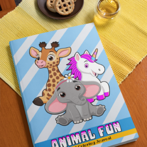 Animal Fun Lined Coloring Journal