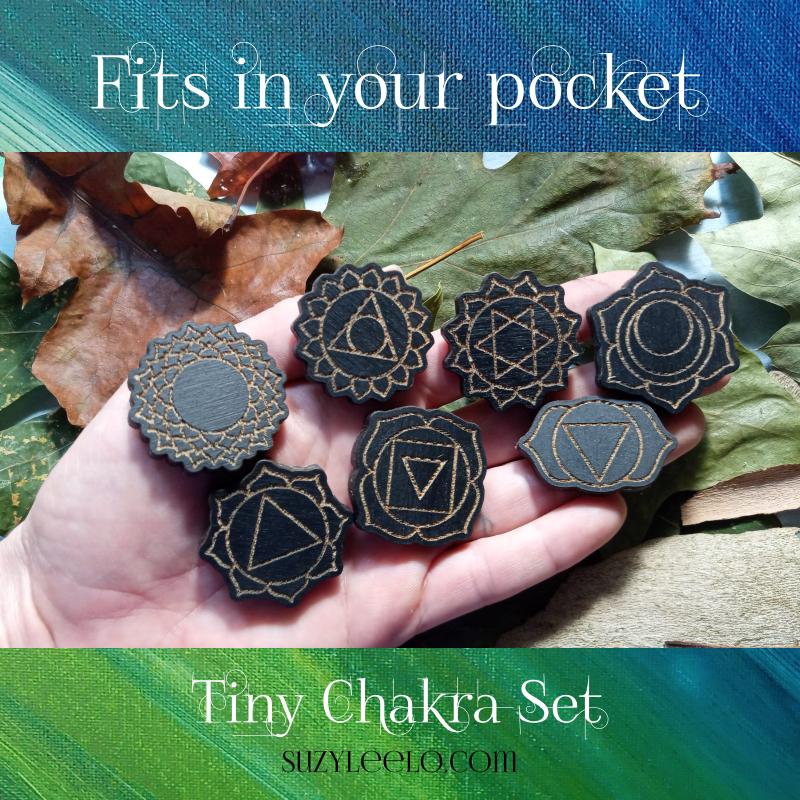 Tiny Chakra Magnet Set by Suzy LeeLo