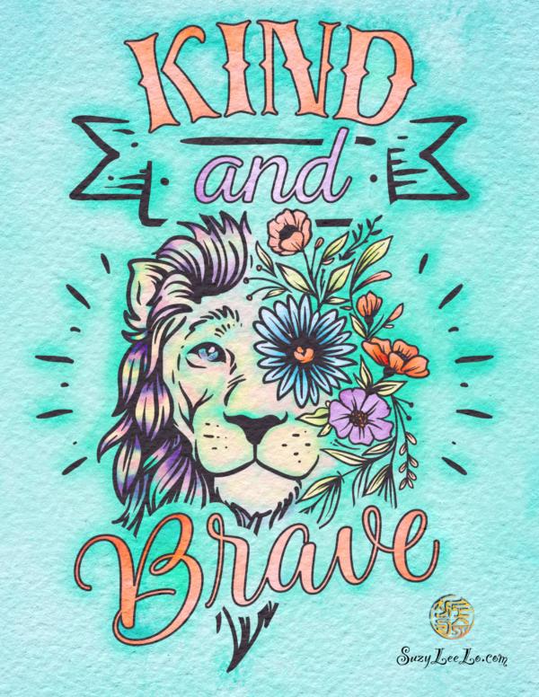 Kind and Brave Lion