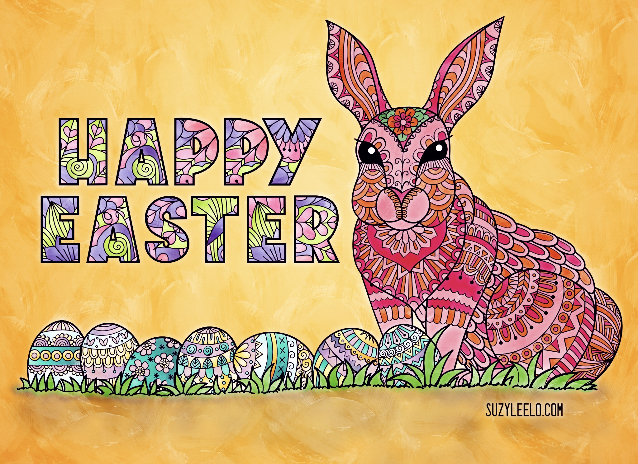 Easter printable coloring pages for adults
