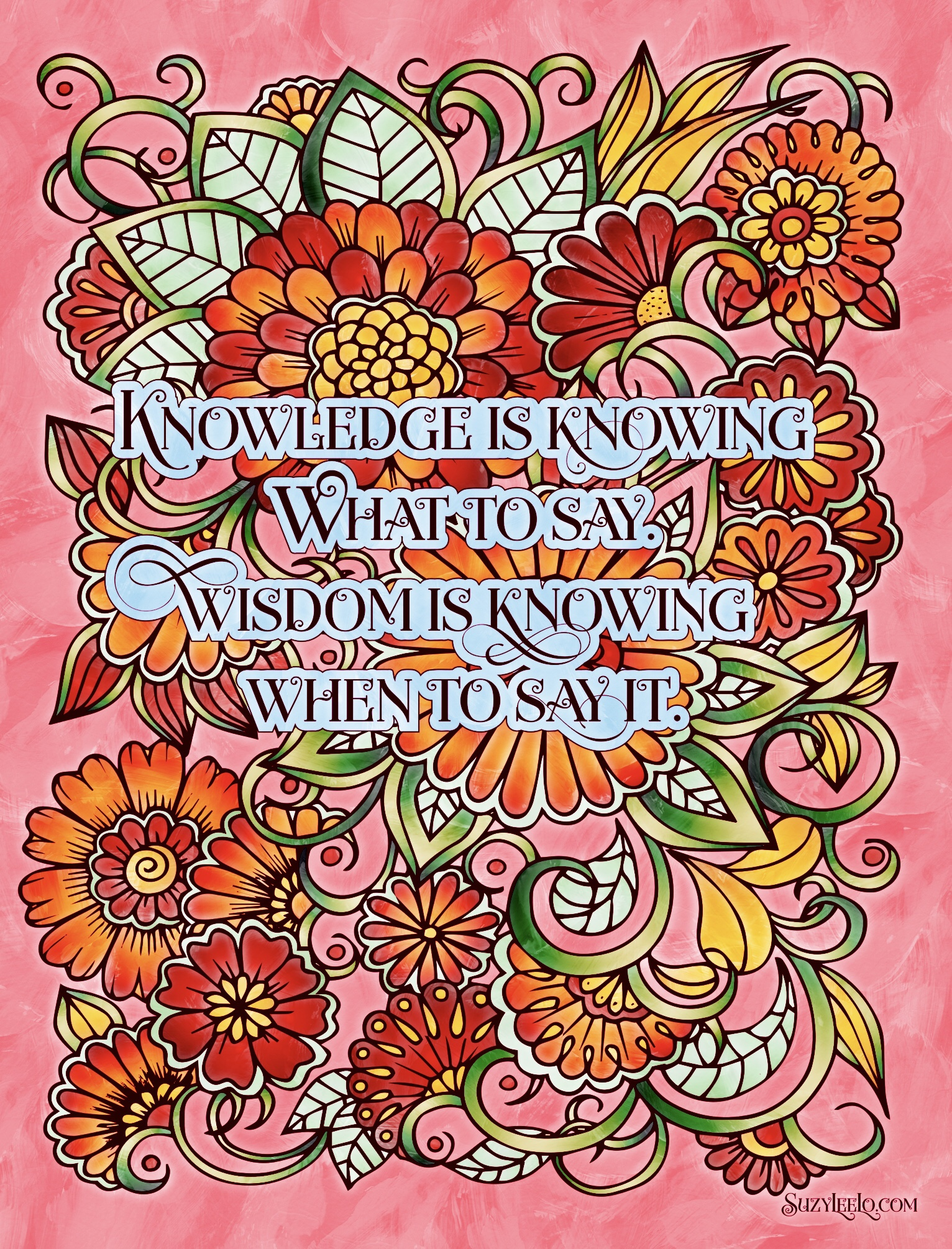 Motivational printable coloring pages for adults